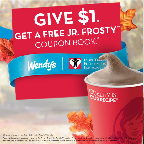 Wendy's to purchase a Jr. Frosty Halloween Coupon Book for $1