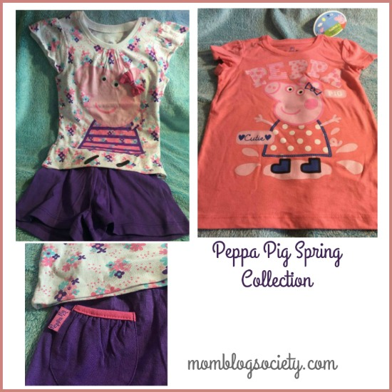 peppa pig clothing collage