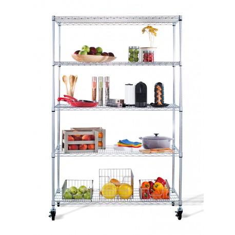 I Can Definitely See This TRINITY EcoStorage™ 5 Tier Wire Shelving Rack  Alone Side My Kitchen Cabinet Wall Area. I Have A Nice Open Space Where The  Rack ...