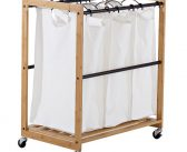 Organize Your Laundry Room with TRINITY EcoStorage™ 3-Bag Bamboo Laundry Cart