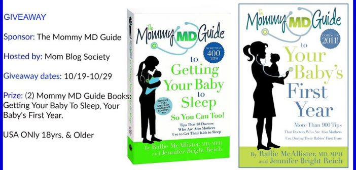 Mommy MD Guide Baby Book Giveaway, Getting Your Baby To Sleep & Baby's First Year.