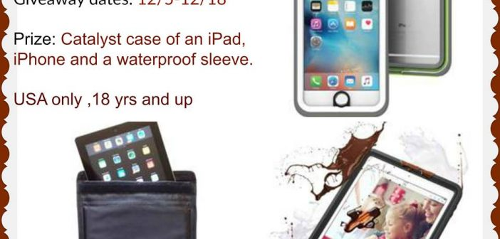 Catalyst case iPad, iPhone and a waterproof sleeve Giveaway.