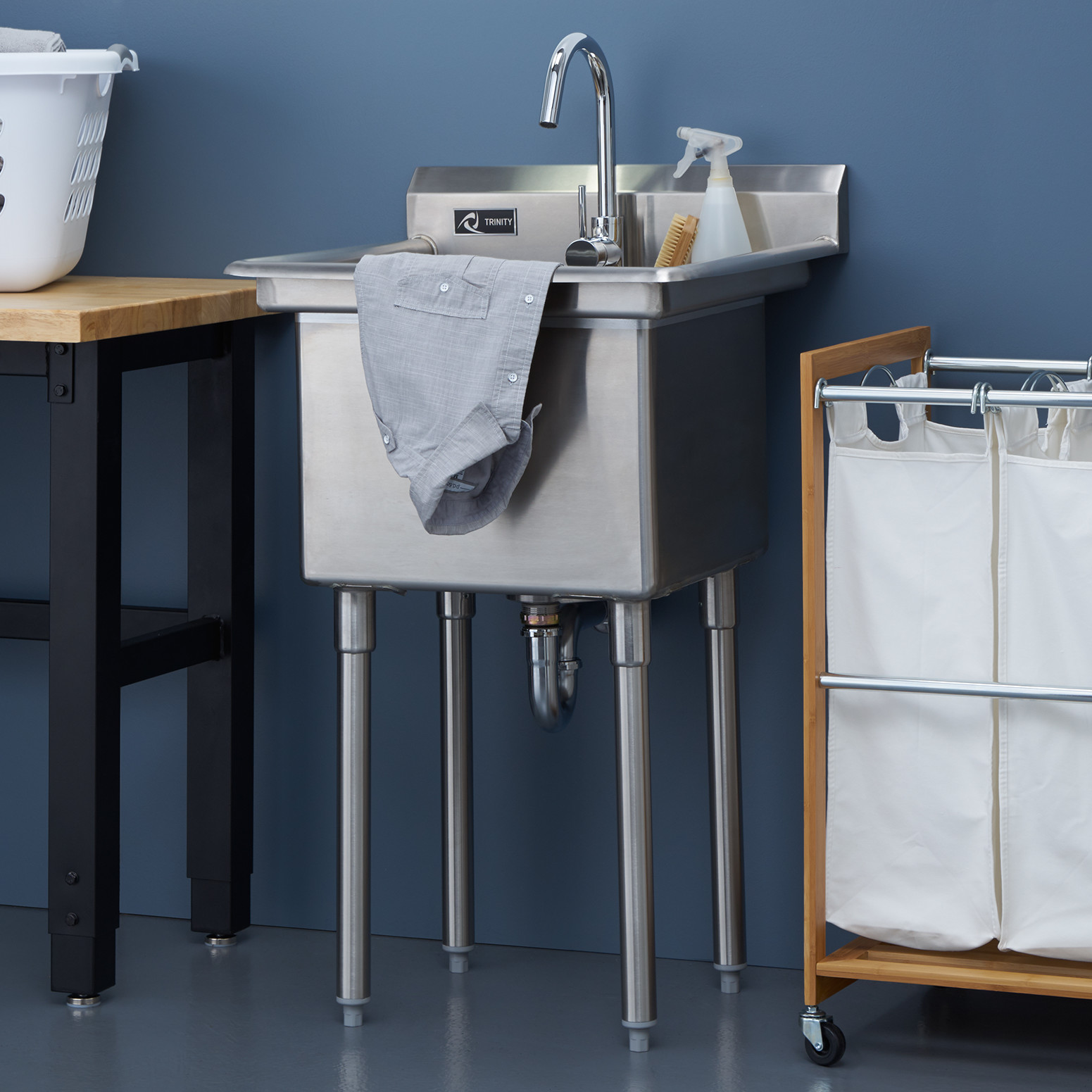 TRINITY Stainless Steel Utility Sink, add this to your laundry room ...