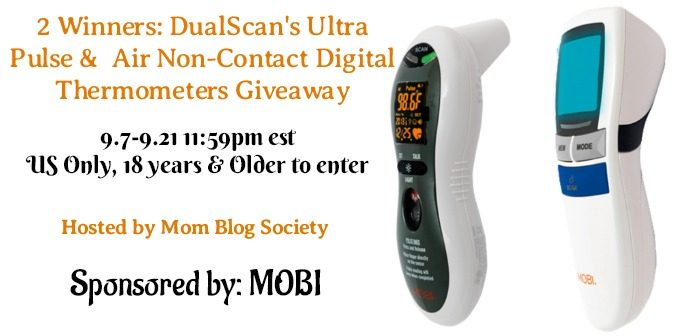 2 Winners: DualScan's Ultra Pulse and Air Non-Contact Digital Thermometers Giveaway