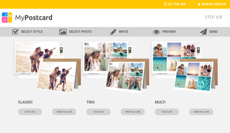 My Postcard Helps You Create Your Own Photo Postcards/Cards and Sends For You