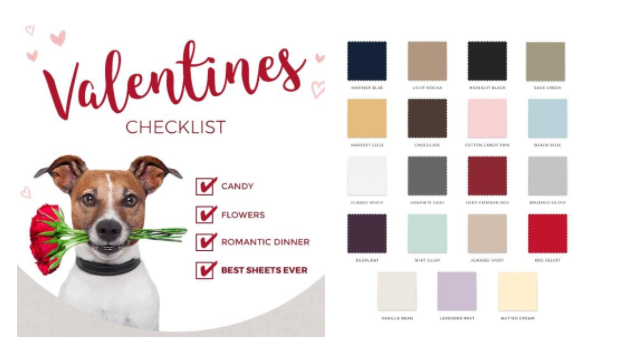 Skip the Chocolates and go Straight to the SHEETS this Valentine's Day!